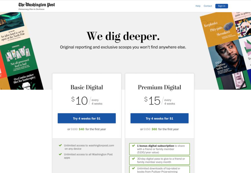 Washington Post Screenshot